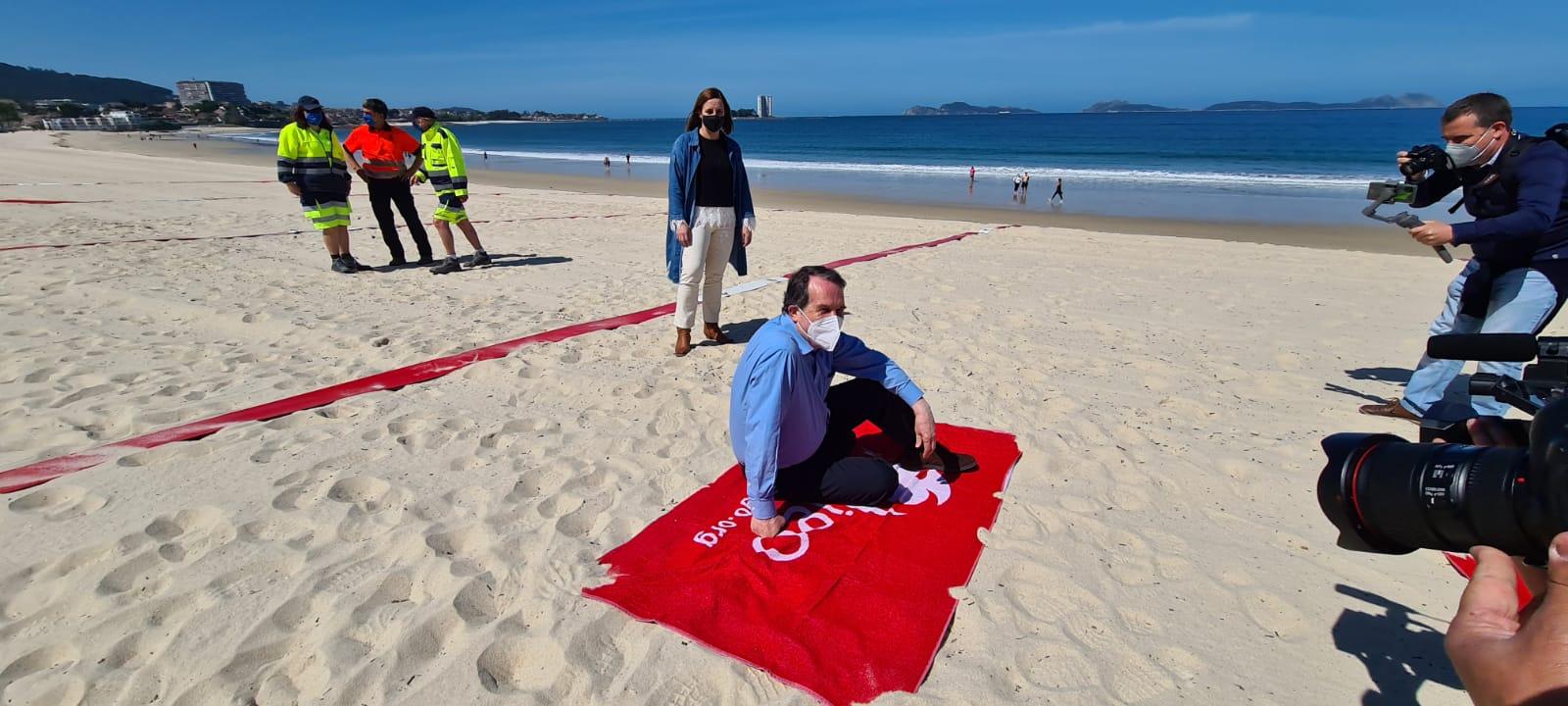 Las playas de Vigo repiten el 'sistema de cuadrículas'