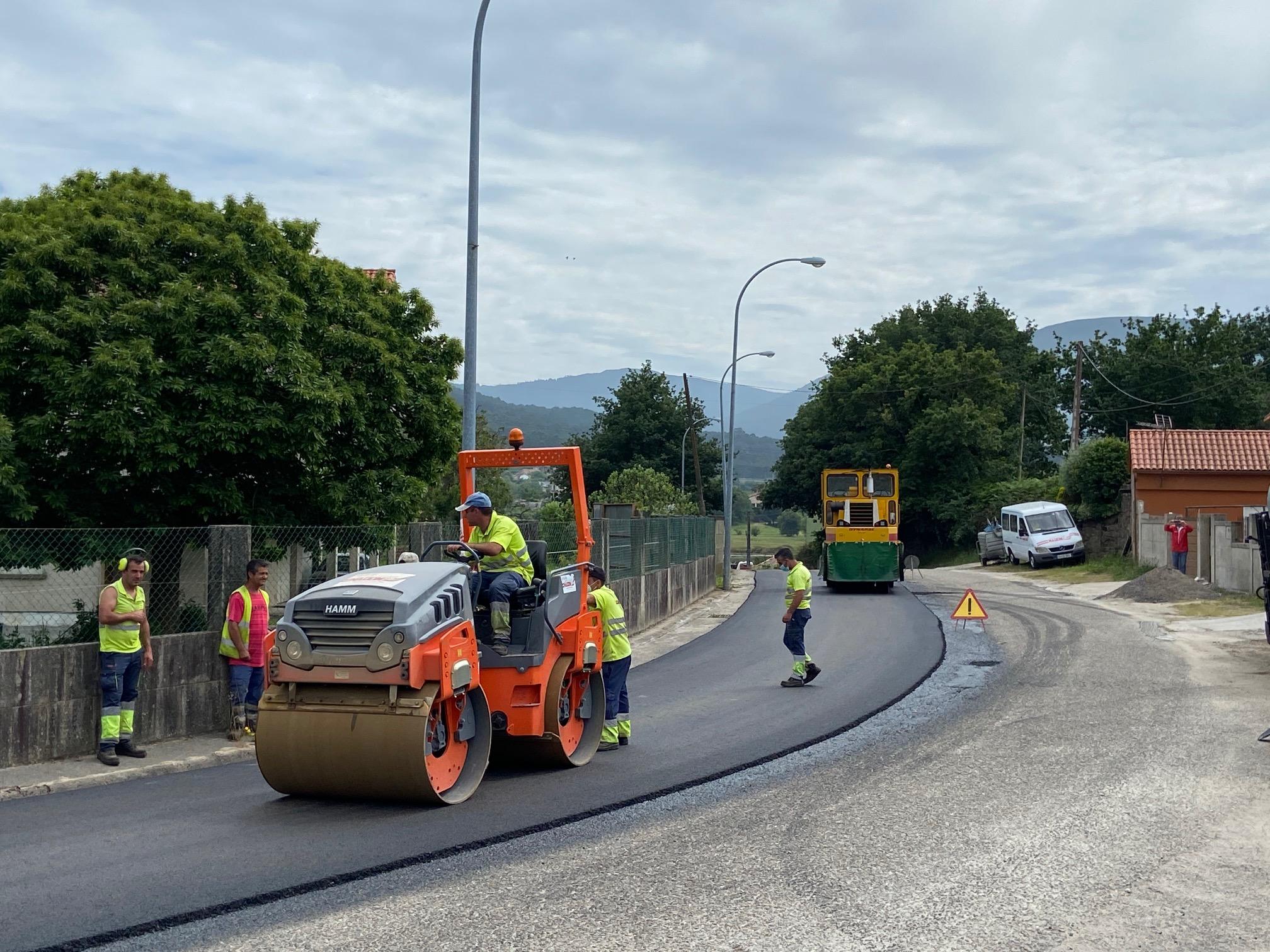 Nigrán asfalta nove rúas de San Pedro de A Ramallosa