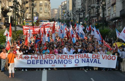 O Naval volve á rúa en Vigo