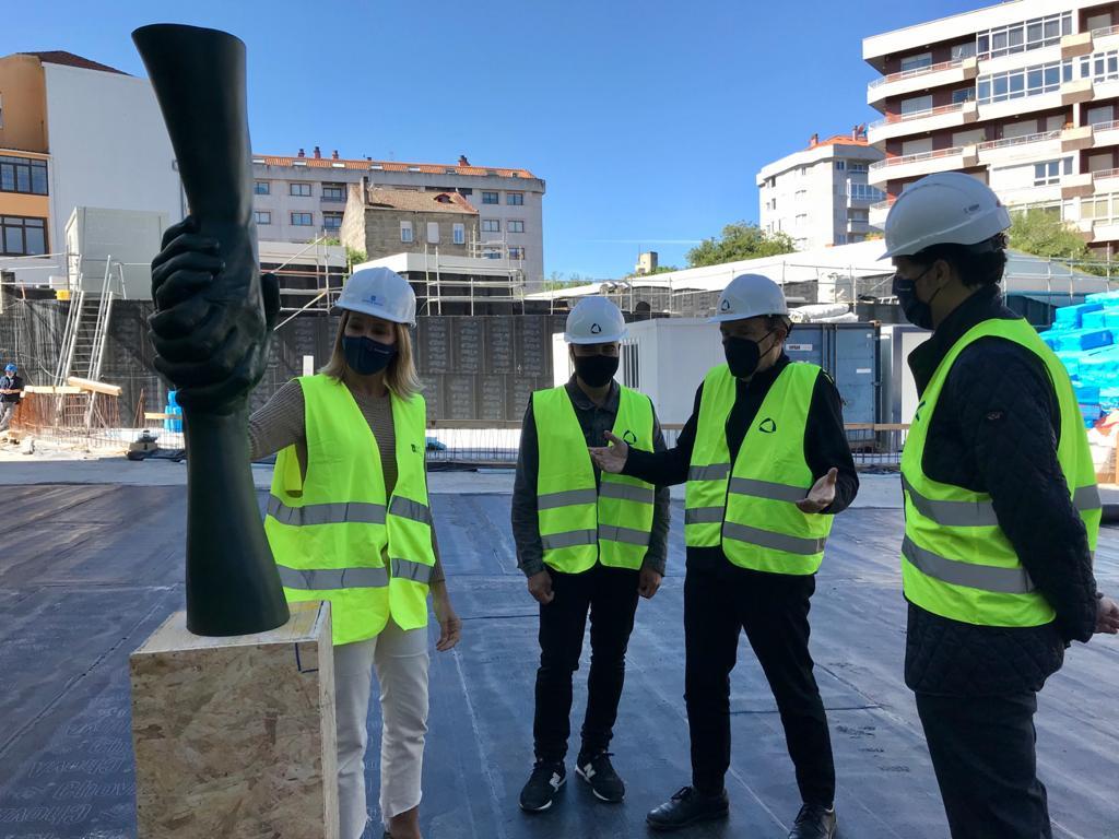 Una escultura de 5 metros dará entrada Ciudad de la Justicia de Vigo