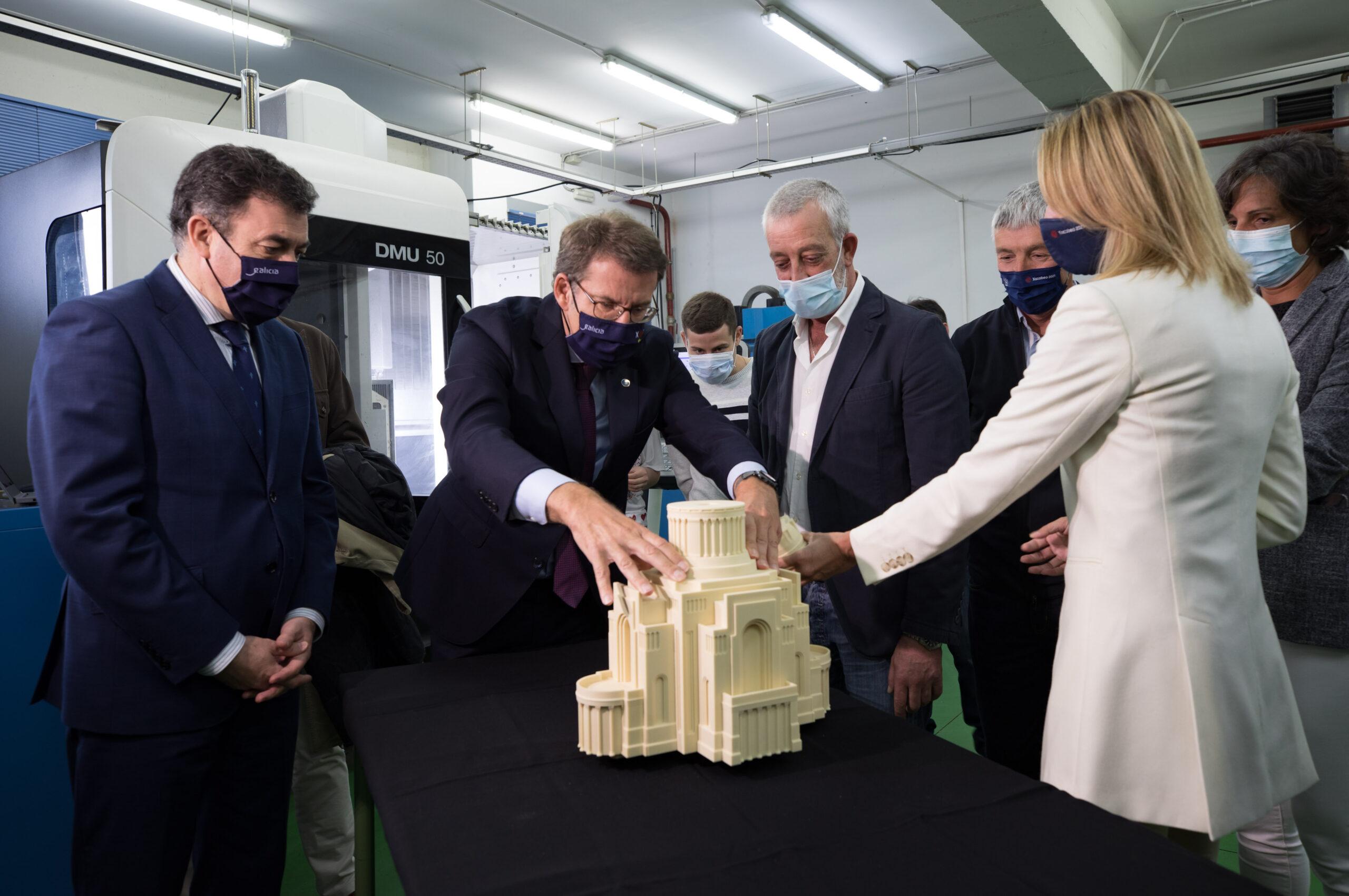 Alumnos do Politécnico recuperan en 3D a maqueta do 'Gran Vigo' de Palacios