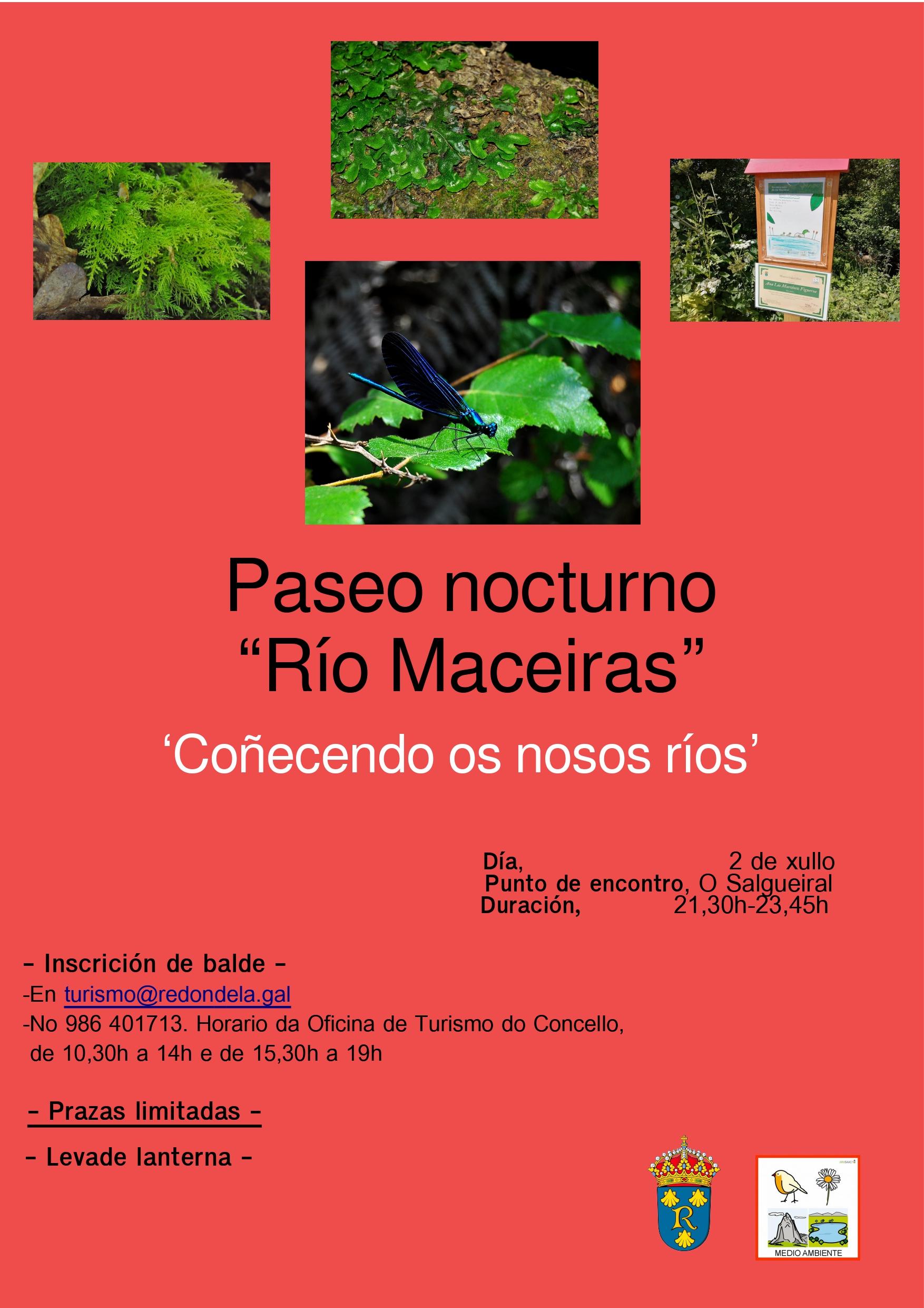 Paseo nocturno Río Maceiras
