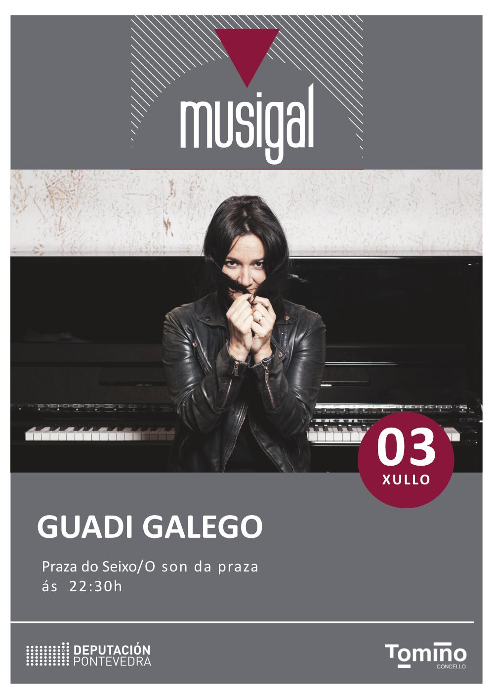 Guadi Galego, este sábado en Tomiño