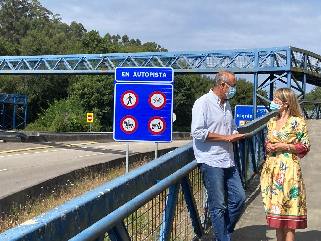 O alcalde de Nigrán pide á Xunta imite ao Goberno e rebaixe a peaxe da AG-57