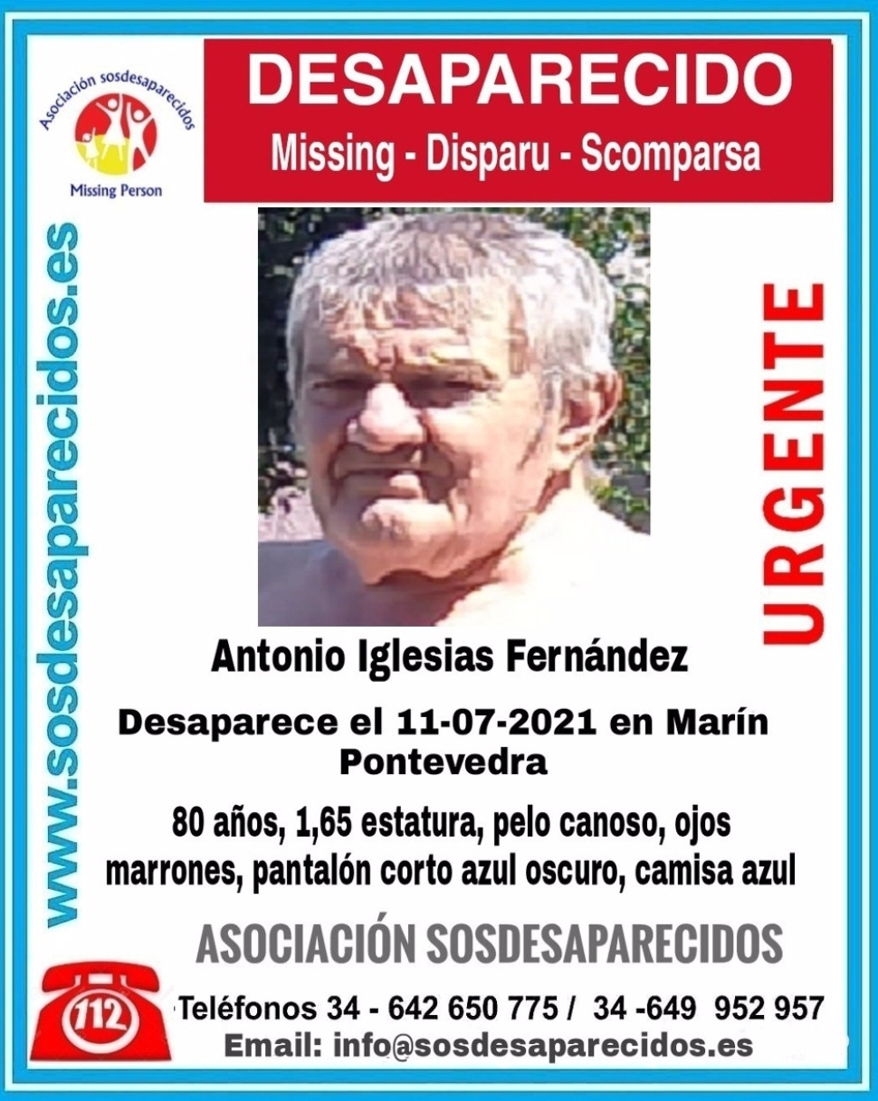 Buscan a un hombre de 80 años desaparecido en Marín