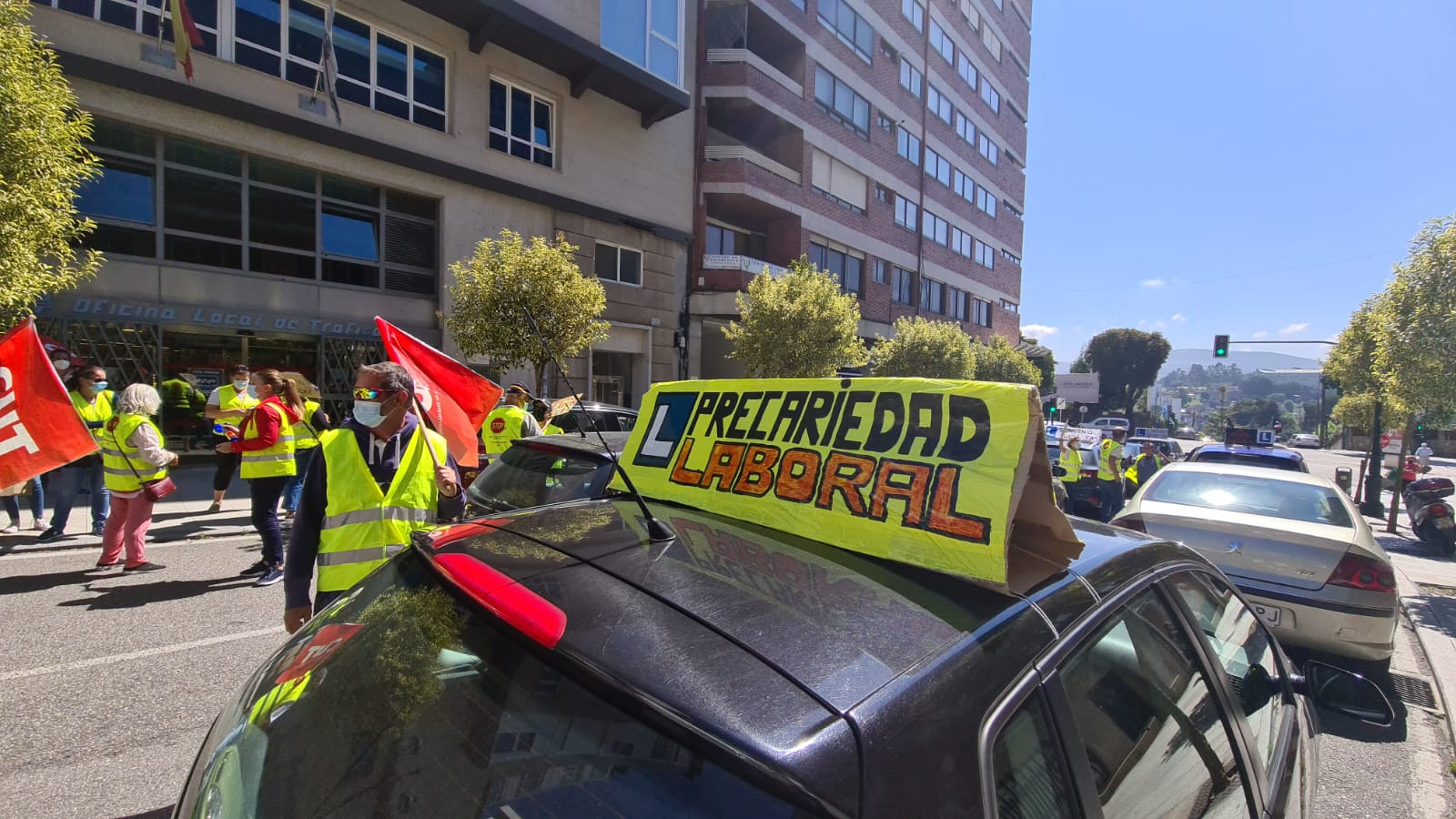 Huelga autoescuelas Vigo