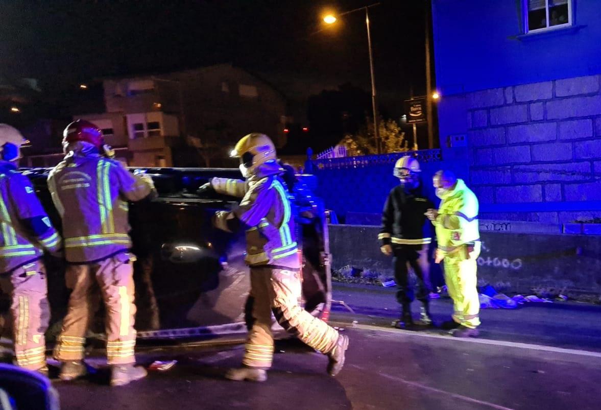 Cuatro heridos en un accidente en la autovía Vigo-Porriño