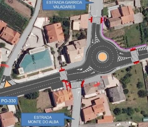 A Xunta inviste 1,85 millóns na mellora da estrada PO-330 en Valadares e Pereiró