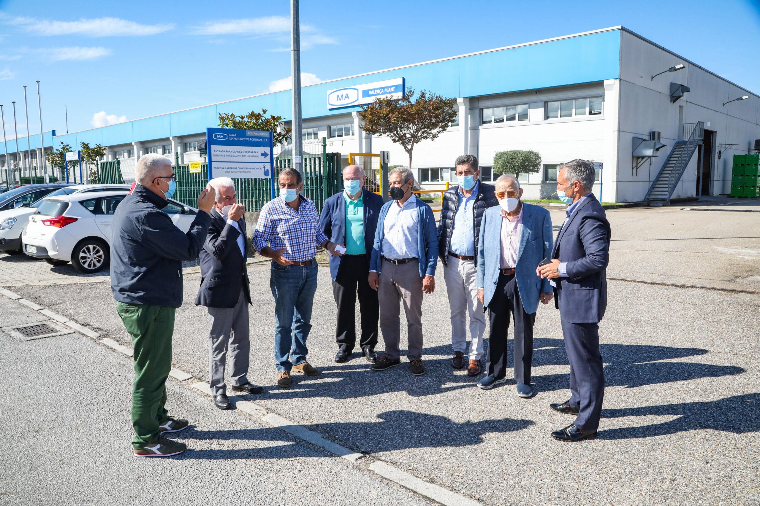 El Presidente de la Cámara de Valença acompaña a los empresarios en una visita al Polígono Industrial