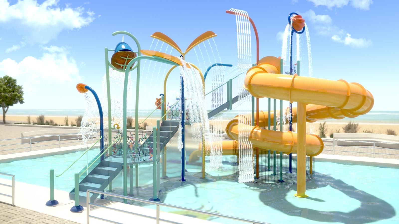 """El alcalde anuncia un parque acuático que hará de Samil """"la mejor playa de Europa"""""""