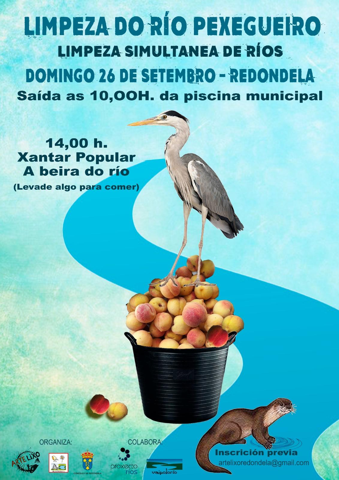 Redondela súmase á limpeza simultánea do 'Proxecto Ríos' de Adega