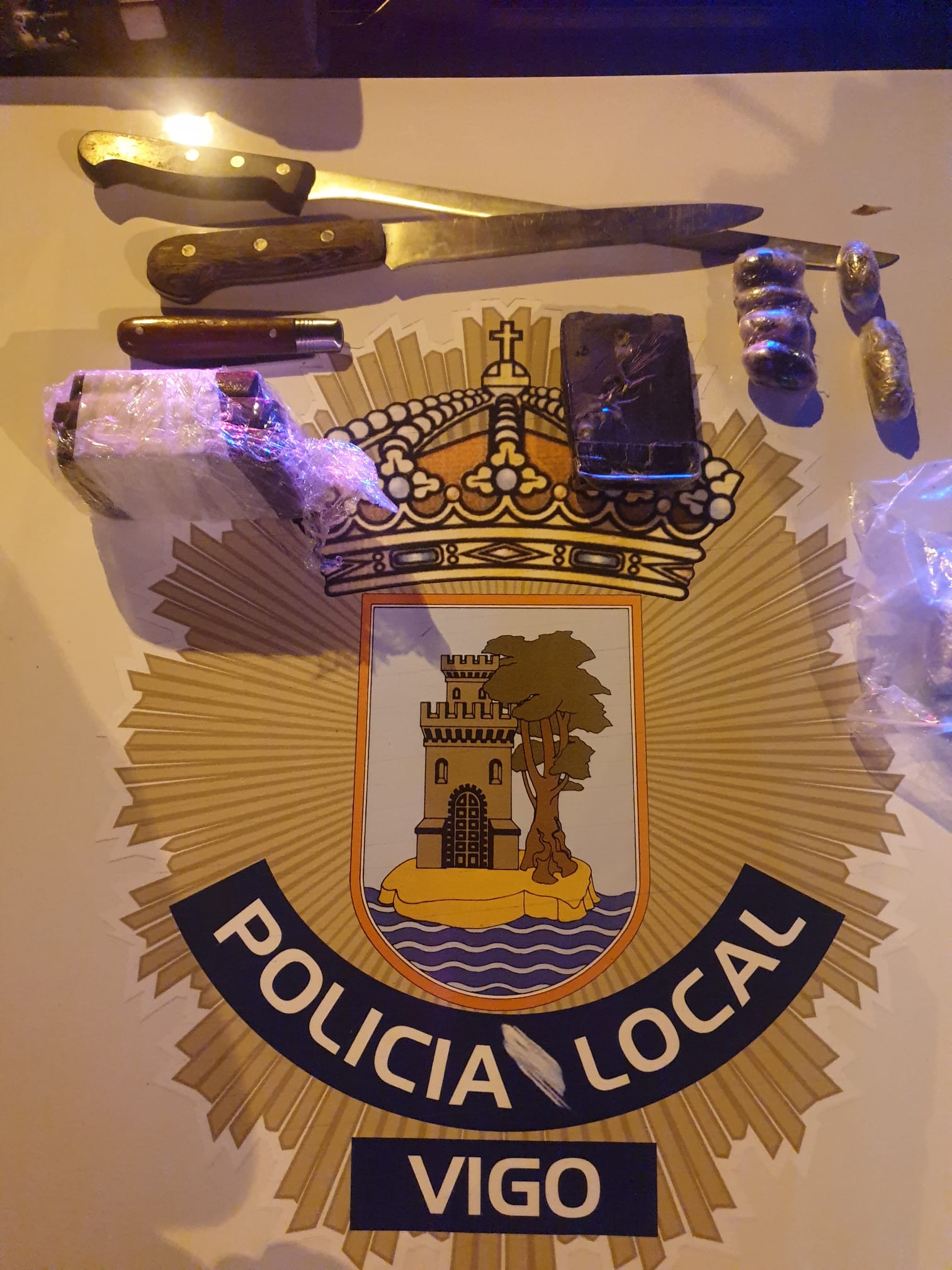 Detenidos en Vigo con medio kilo de cannabis