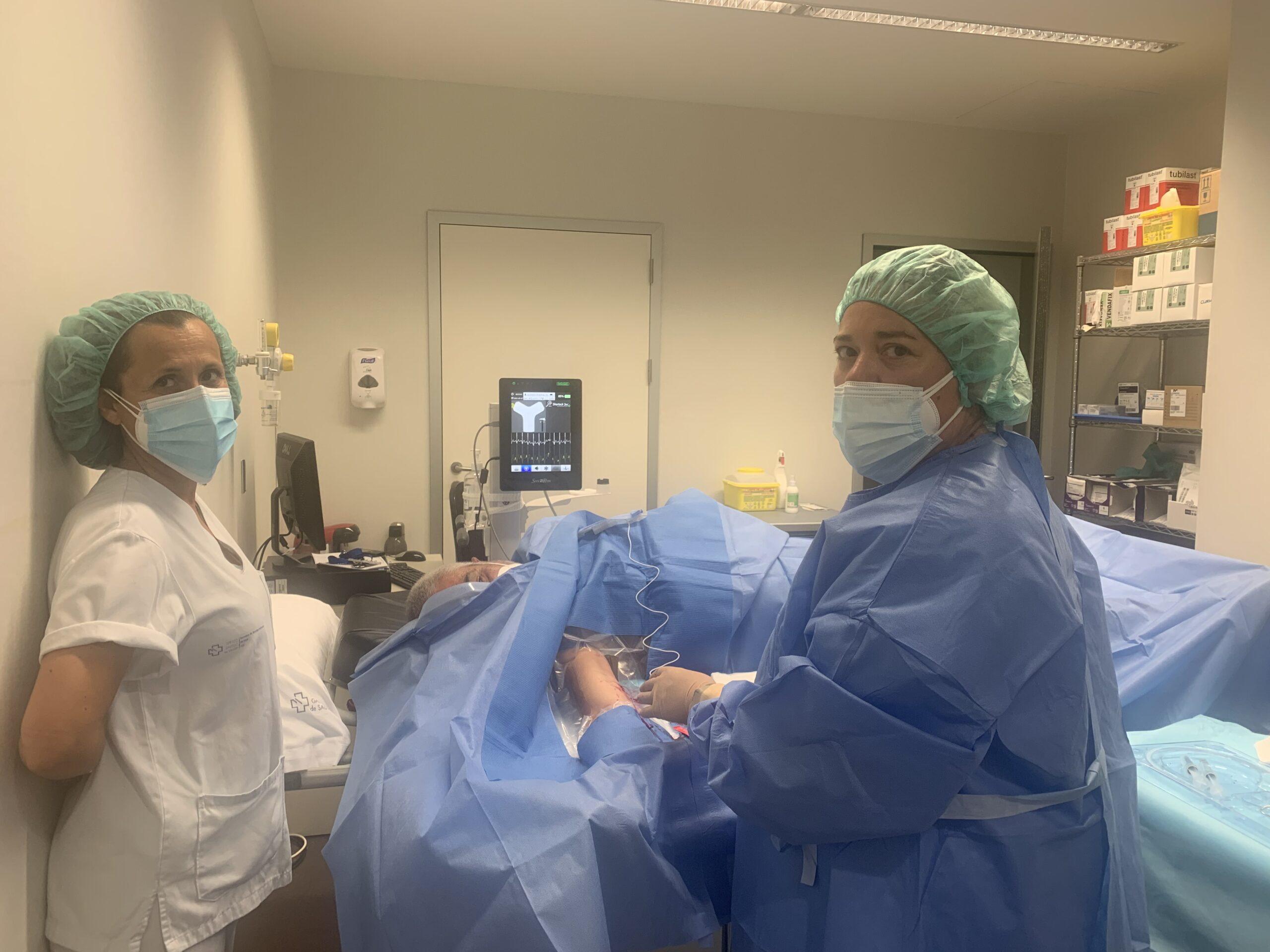 A consulta de accesos venosos do Cunqueiro xa realizou 2.000 técnicas de vías especiais
