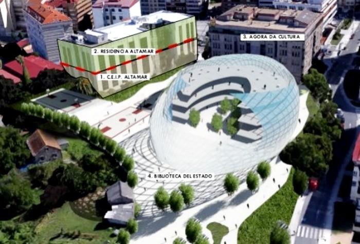 Infografía Biblioteca del Estado en Vigo
