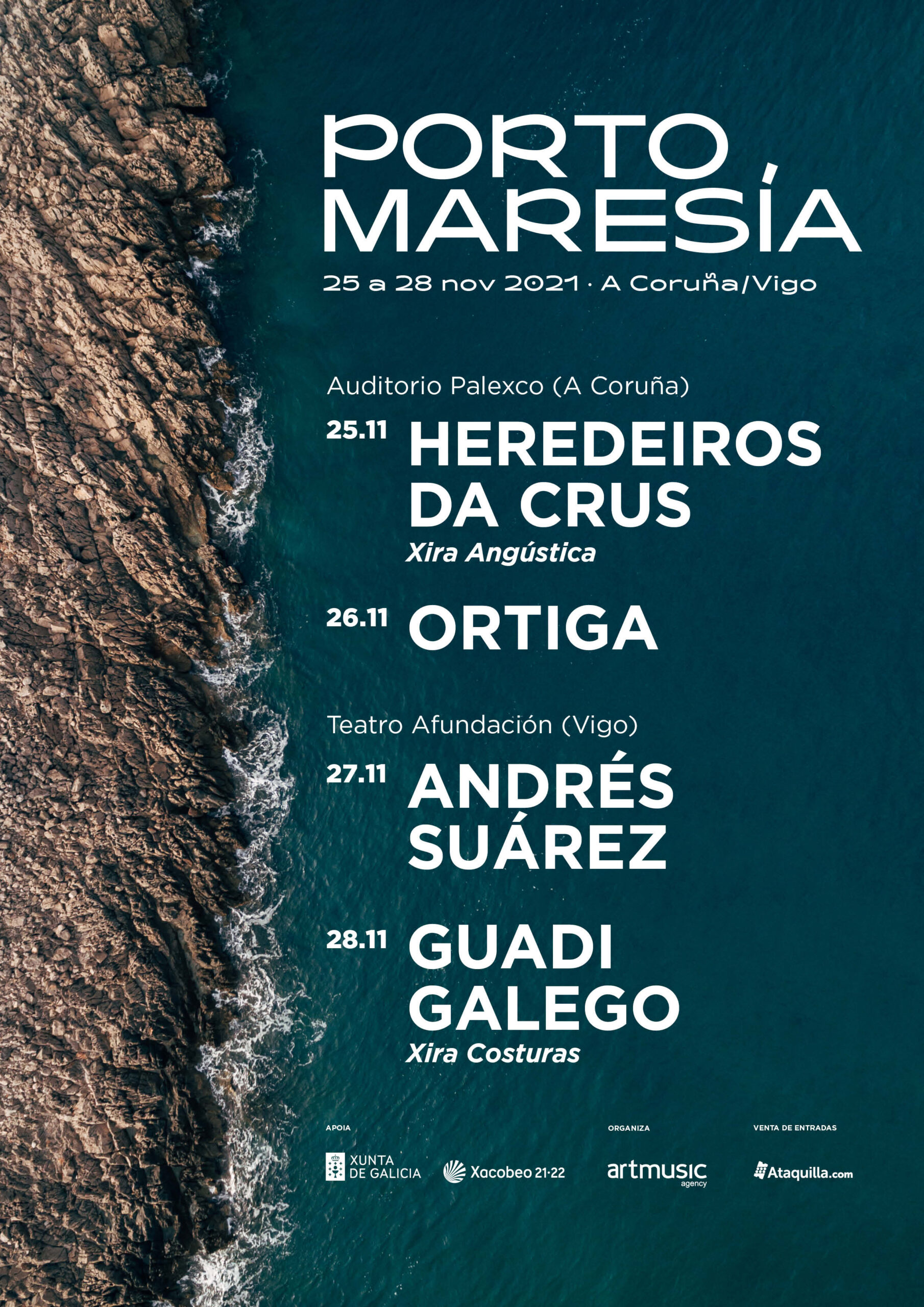 Chega 'Porto Maresía', un novo ciclo de concertos en Vigo e A Coruña